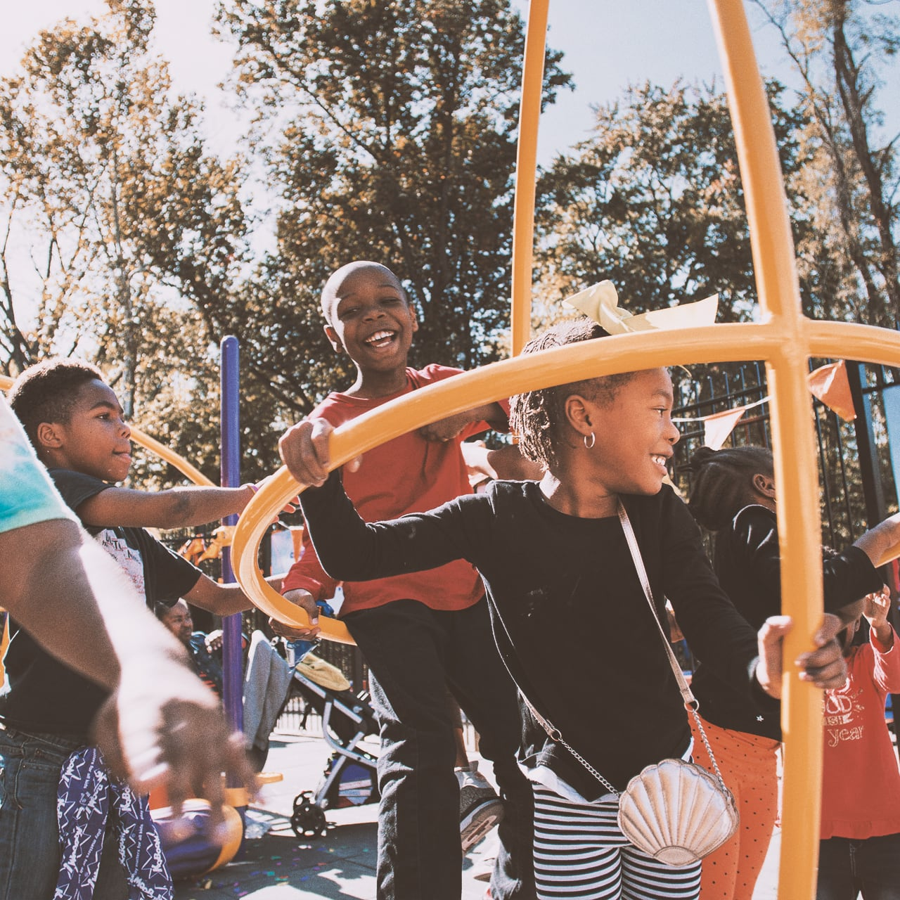 Image of children on playset.
